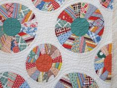 Spectacular Vintage Reverse Applique FLOATING CHINA PLATES Quilt  Hand-Quilted 9-10 spi, Etsy, TextilesandOldThings