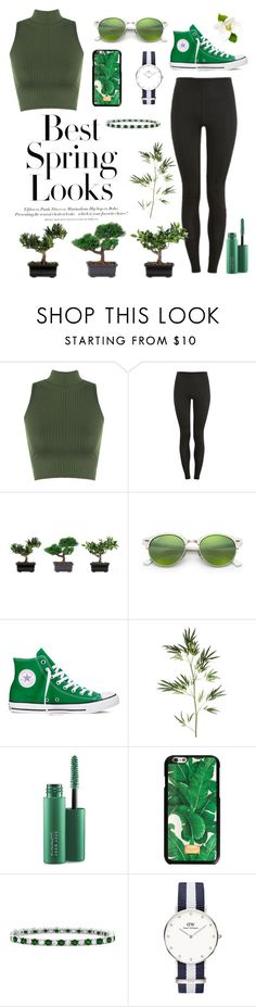 """Green"" by annnnnnnnnn ❤ liked on Polyvore featuring H&M, WearAll, Proskins, Nearly Natural, Ray-Ban, Converse, Pier 1 Imports, MAC Cosmetics, Dolce&Gabbana and Bling Jewelry"