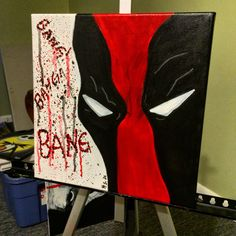 Deadpool Marvel Comics Painting Art Canvas by BlackHoodieArt on Etsy https://www.etsy.com/listing/219879518/deadpool-marvel-comics-painting-art