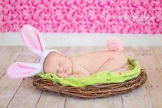 Newborn easter photo
