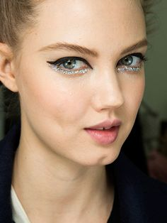 couture ey makeup | Glittery Eye at Chanel Spring 2014 Couture