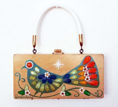 Enid Collins Bird in Hand Box Bag by niwotARTgallery on Etsy, $140.00