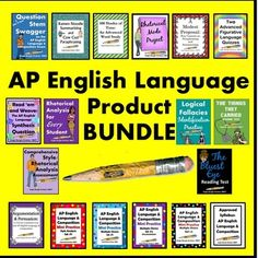 This ever-growing bundle is for the first-time instructor or seasoned teacher who needs to shake things up a bit. It contains 531 pages of AP English Language & Composition resources (all 30 of my AP products!). Priced individually, the value of these products is $119.00, so the  BUYER SAVES $20 WITH THE BUNDLE!