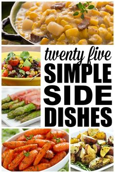These easy side dishes are the perfect compliment to any meat or fish dish, and most can be made ahead of time to save you time in the kitchen when you're entertaining. They make great leftovers, too! Healthy Side Dishes, Vegetable Side Dishes, Side Dishes Easy, Side Dish Recipes, Vegetable Recipes, Dinner Recipes, Cooking Recipes, Healthy Recipes, Recipes