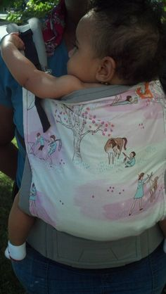 Canvas - Abby's Lane Exclusive 'SECRET GARDEN' Tula Baby Carrier; Released June 2014