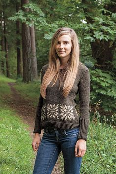 Winter Wonderland Pullover - pattern on Knitpicks.com. Made from Wool of the Andes Worsted weight yarn.