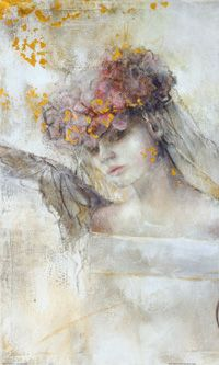 Artist painter Germany . Elvira Amrhein 1957  Flower angel