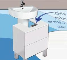make your own furniture Pedestal Sink Storage, Bathroom Storage, Small Bathroom, Bathroom Furniture, Diy Furniture, Washbasin Design, Cabinet Makeover, Decoration, Google