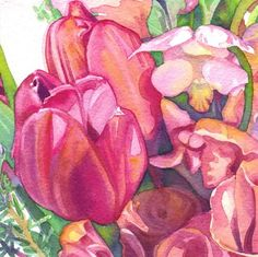 Tulips and Snapdragons : Tracy Lewis Art
