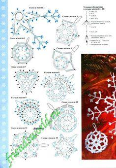 Crochet ideas that you'll love Crochet Snowflake Pattern, Crochet Leaves, Crochet Stars, Crochet Snowflakes, Thread Crochet, Crochet Flowers, Crochet Diagram, Crochet Motif, Crochet Doilies