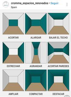 Como pintar una habitación para conseguir efectos Interior Design Tips, Interior Design Living Room, Interior Decorating, Hallway Decorating, Decorating Ideas, Decor Ideas, Design Room, Design Design, Design Table