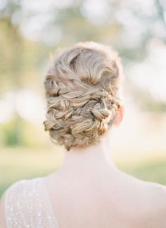 coiled updo | Michelle Boyd #wedding