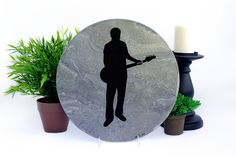 Personalized silhouette of musician playing his guitar!