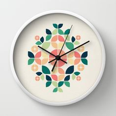 The Bouquet Wall Clock by VessDSign - $30.00