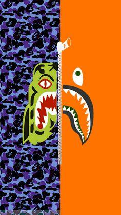Bape half shark half tiger blue camo wallpaper Bape half shark half tiger wallpaper by Rafi Nugraha Bape Shark Wallpaper, Hypebeast Iphone Wallpaper, Iphone Lockscreen Wallpaper, Tiger Wallpaper, Wallpaper Iphone Disney, Supreme Wallpaper Hd, Bape Wallpapers, Tumblr Backgrounds, Aesthetic Wallpapers
