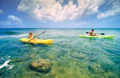 Kayaking anyone? Just one of the many activities available to you when you visit us at Almond Beach Resort in #Barbados.