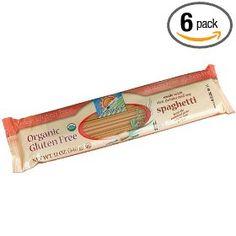 bionaturae Organic Spaghetti, Gluten Free, 12-Ounce Bags (Pack of 6), (gluten free, gluten free pasta, celiac, usda organic, gfcf, pasta, spaghetti, wheat free)