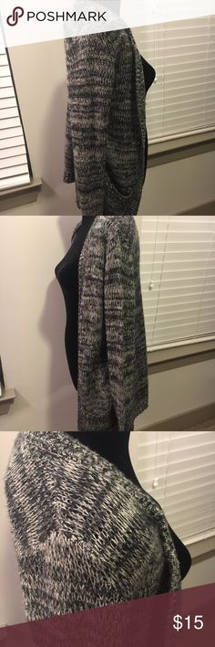 Gray Knit Sweater Cardigan with Pockets Has minor signs of wear but in good shape. It's actually a bit of a lighter sweater, not as heavy as it looks. Sweaters Cardigans