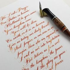 Beautiful penmanship