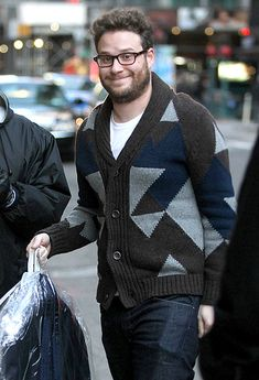 Seth Rogen headed into the Ed Sullivan Theater for an appearance on Late Show With David Letterman to promote his new Barbra Streisand road trip comedy The Guilt Trip.