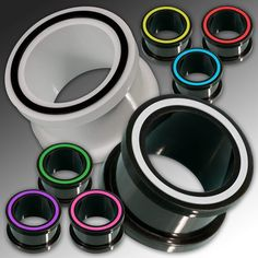 """Silicone Tunnel Flesh Plug flexible ear expander piercing plug tube wood horn sm ebay.de ebay.com ebay.es. Expander, Spirals. Plugs, Flesh Tunnel. Silicone Flesh Tunnel """"Hollow Eye"""" in different colors materials used:Silicone."""