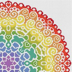 KIT Mandala Cross Stitch Kit - Modern Original Cross Stitch - Colourful Spectrum…