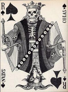 R - playing card, spade, Satan?