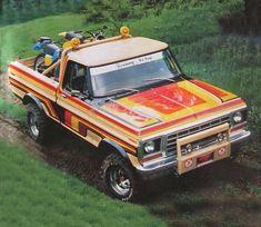 Ford F150 Custom, Ford 4x4, Classic Ford Trucks, Classic Cars, Bicicletas Raleigh, Pickup Trucks, Mudding Trucks, Truck Paint, Ford Motor Company