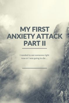 After we got to the hospital for Jean-Marc's First Anxiety Attack he was able to calm down. Make sure you read part two of his series and get caught up!