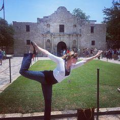 """#Yoga  """"Dancers Pose at the Alamo, San Antonio, Texas by Kayla D""""."""