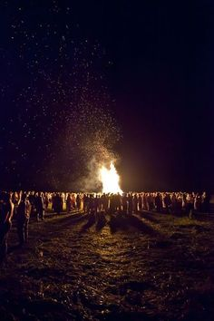 I want a big bonfire so we can throw sage into  the flames and cleanse the air and bless our marriage.