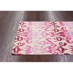 Pop Dragon Fruit Ikat Ikat Rectangular: 5 Ft. X 8 Ft. Rug Area Rugs Rugs Home Decor