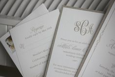Wedding Invitations  #monogram