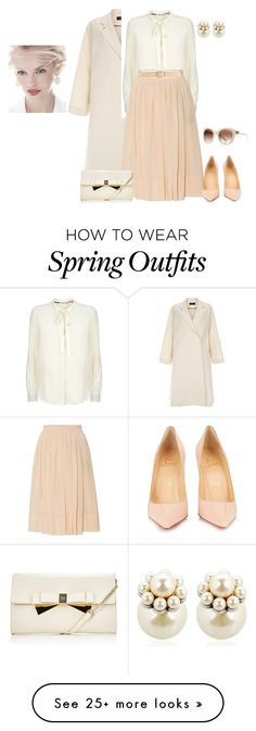 """""""outfit 3839"""" by natalyag on Polyvore featuring Paul Smith, Whistles, Rochas, Ann Taylor, Mawi, Lipsy, Christian Louboutin, Nina Ricci and GINTA"""