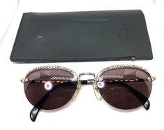 e30b664b3d5 Jean Paul Gaultier 56-3175 Silver Vintage Sunglasses with case  affilink