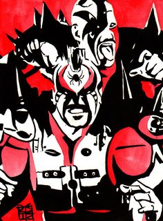 """The Road Warriors l Ink and watercolor on 9"""" x 12"""" watercolor paper l http://www.robschamberger.com/commissions"""