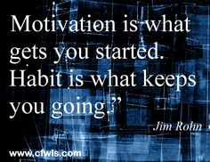 When it comes to weight loss, you start with the motivation, we teach you how to make it a habit!  www.cfwls.com/