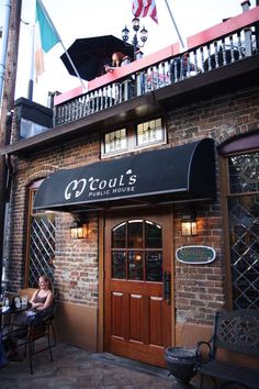 M'couls  Greensboro, NC. A lovely Irish Pub.  Our favorite place to go for hazelnut coffee and bread pudding :)