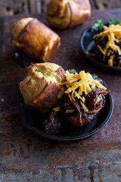 Crockpot BBQ Beer Pulled Chicken with Cheddar Corn Popovers | halfbakedharvest.com @hbharvest