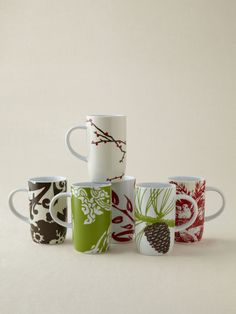 Rosanna Inc.  Boho Mugs (Set of 6)  $32