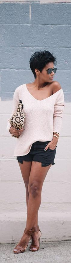 Shorts and Sweater, Say No Never / Fashion by Kyrzayda