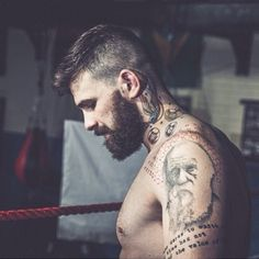 BEARDED INKED FIGHTER