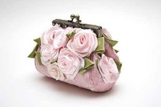 such a pretty little clutch bag . . . .#purses #pink