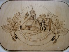 woodburned from a classical carving image