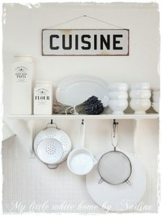 My little white home by Nadine: My new kitchen Part III Cozinha Shabby Chic, Shabby Chic Kitchen, Country Kitchen, Vintage Kitchen, New Kitchen, Kitchen White, Kitchen Interior, Kitchen Decor, Kitchen Design