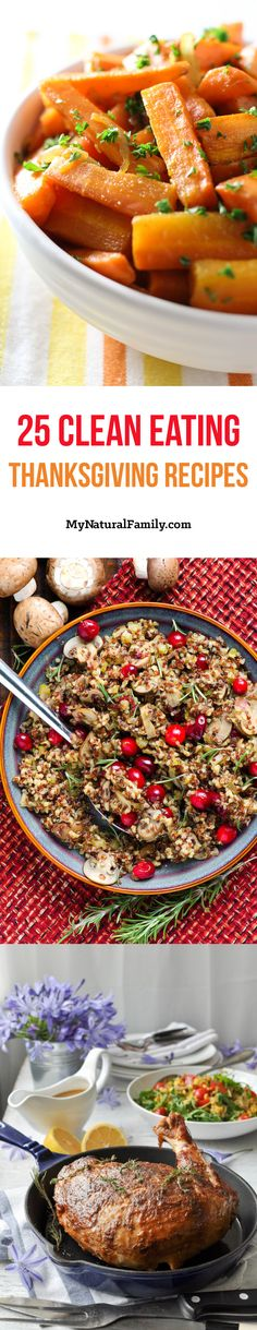 Clean Eating Thanksgiving Recipes - simple homemade ideas for eating real food for Thanksgiving