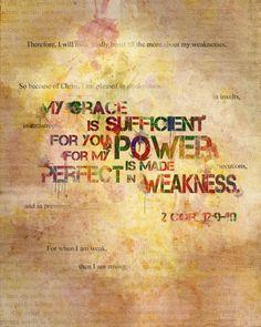 #Scripture                     2 Corinthians 12:9-10