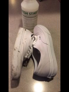 how to clean all white authentic vans