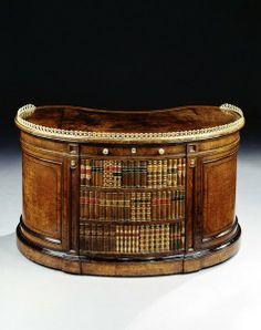 English Regency Kidney Shaped writing desk