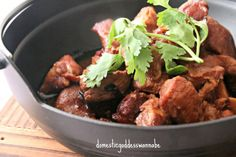 Slow Cooker Stewed Pork With Fermented Black Beans And Garlic